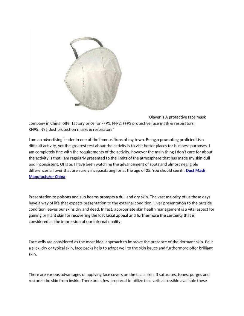 N95 Mask Supplier China